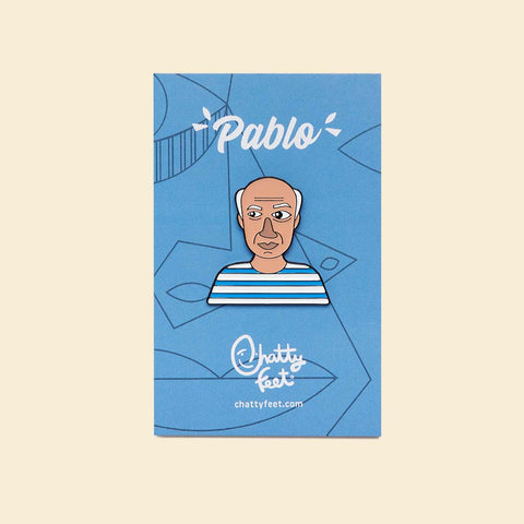 Gifts for artists - Pablo enamel pin by ChattyFeet