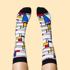 Buy cool art socks - Feet Mondrian character design