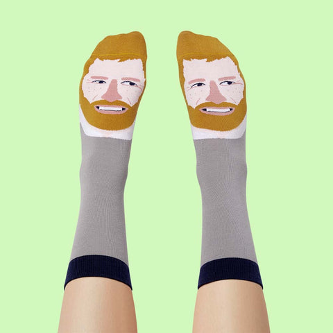 Birthday Gifts For Royal Fans- Hurry Feet Funny Socks