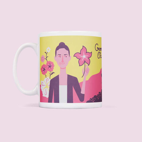 Art Mug - Illustrated artist - Georgia O'coffee