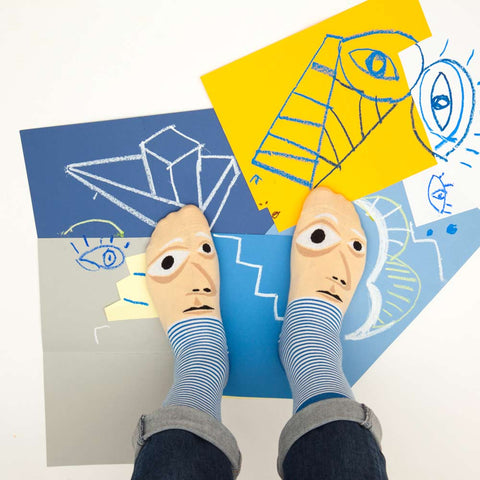 Silly Socks- Artist Collection - Feetasso Art Gift