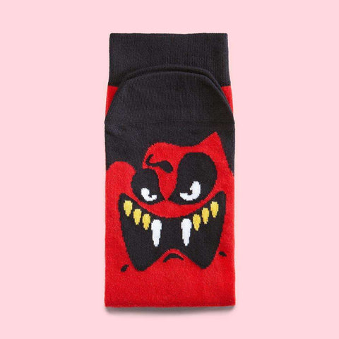 Cool vampire socks - Mr. Zukkato illustrated character