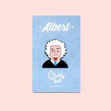 Enamel Pin Badge - Science Inspired Gift- Albert