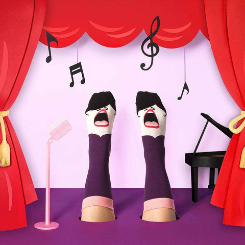 Fun singing socks - Gift for Opera Singers - ChattyFeet