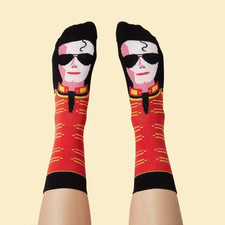 Cool socks with illustrated character