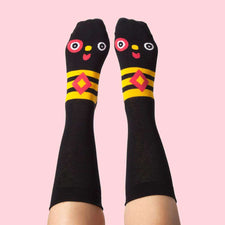 Fun dress socks - Cool illustrated character - Meggy