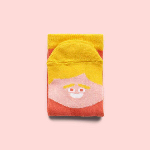 Funny kids socks with illustrated characters - Brad Feet Jr