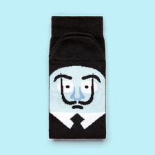 Funny socks - Artist character - Dali Illustration