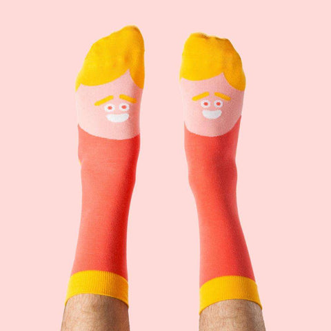 ChattyFeet Funky socks with celebs - Actor Brad Feet design