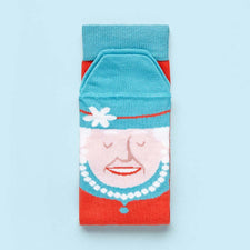 Funny socks - The Queen illustrated character