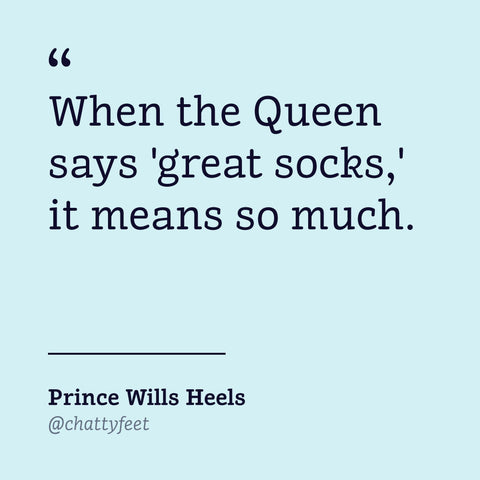 ChattyFeet Royal Gifts - Prince Wills Heels Royal Socks