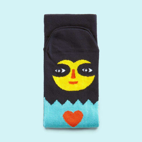 Fun socks with an illustrated character - Loli design