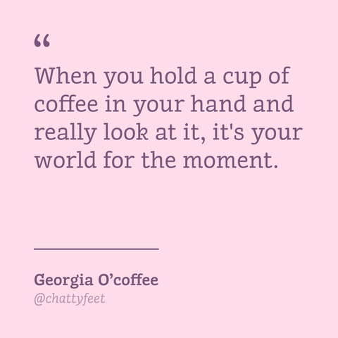 Gifts for artists - Georgia O'coffee art mug