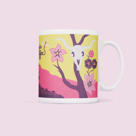 Illustrated Mug - artist Georgia O'coffee design
