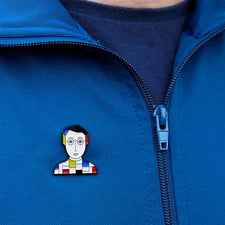 Artist Character on Enamel Pin