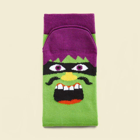 Unusual socks with a cool illustrated character