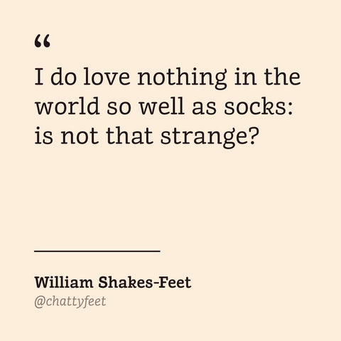 Theatre Socks - Shakespeare - Gift for writers