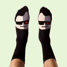 Funny socks with film character - Toeminator