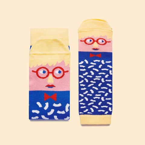 Family Art Gifts - David Sock-Knee Fun Sock Set by ChattyFeet.