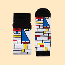 Cool Art Gifts - Feet Mondrian Colourful Socks