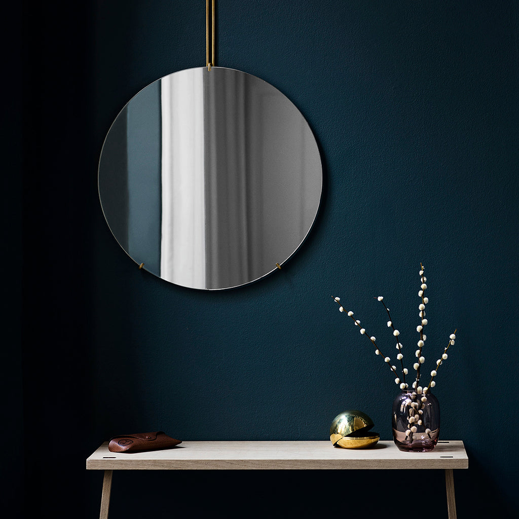 Moebe Wall Mirror messing - Spejl Ø 70