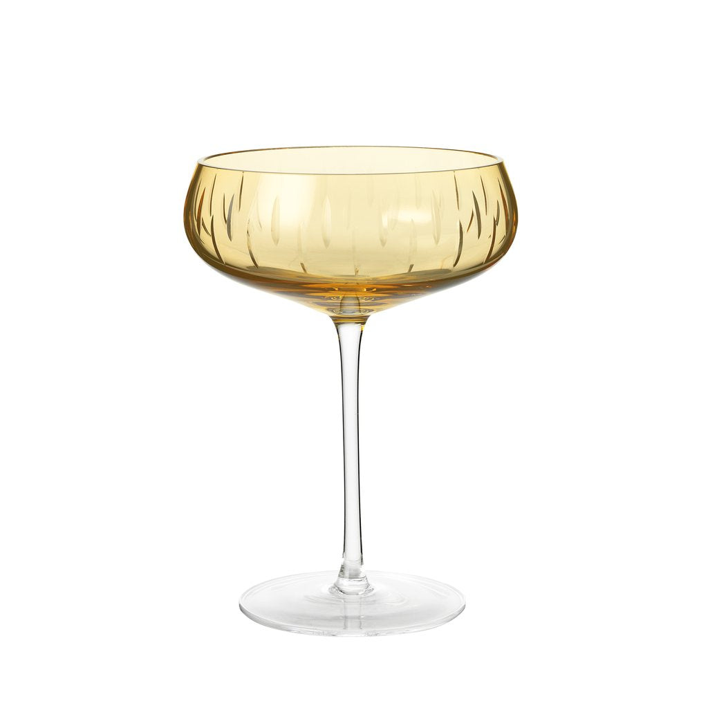 Køb Louise Roe Krystal Champagne coupe - Amber her