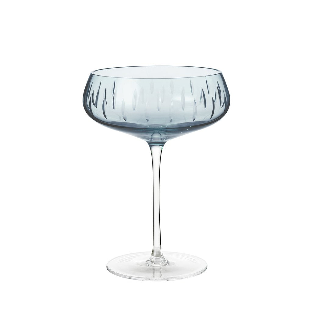 Køb Louise Roe Krystal Champagne coupe - Blue her