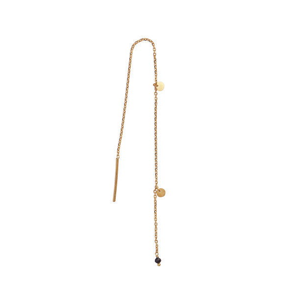 Stina A Dangling Petit Coin And Stone - Black