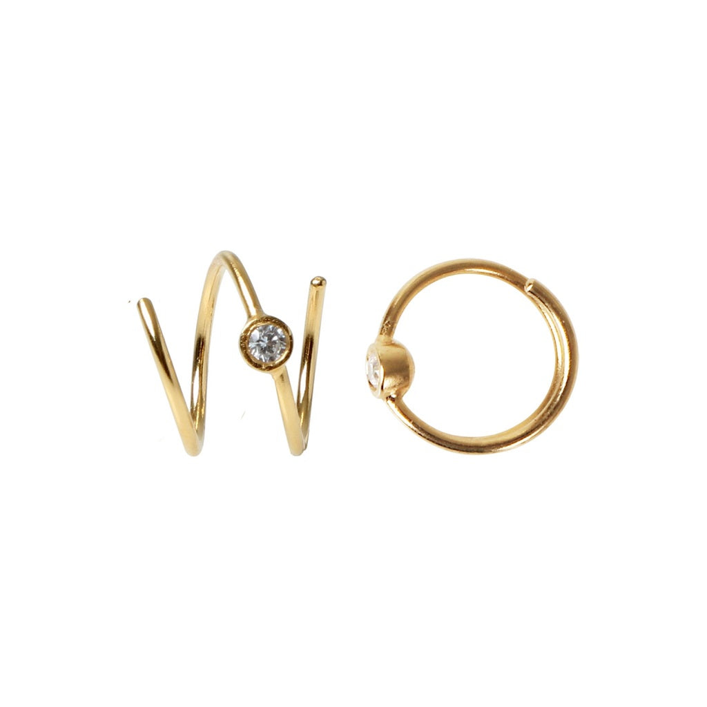 Køb Stine A Petit  Big Dot Curl Earring Right - Gold - CasaCasino