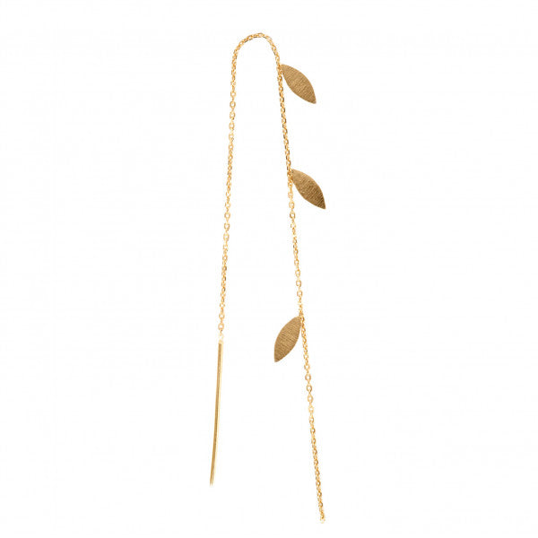 Stina A Three Leaves Earring Piece - Gold