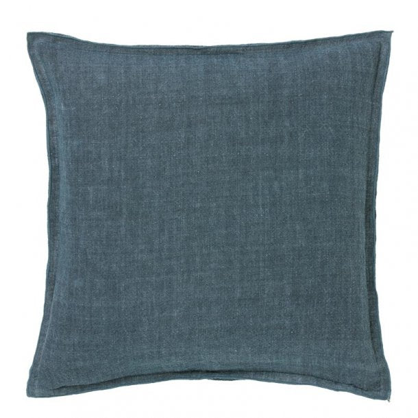 Bungalow Hør pude 50x50 - Denim Blue