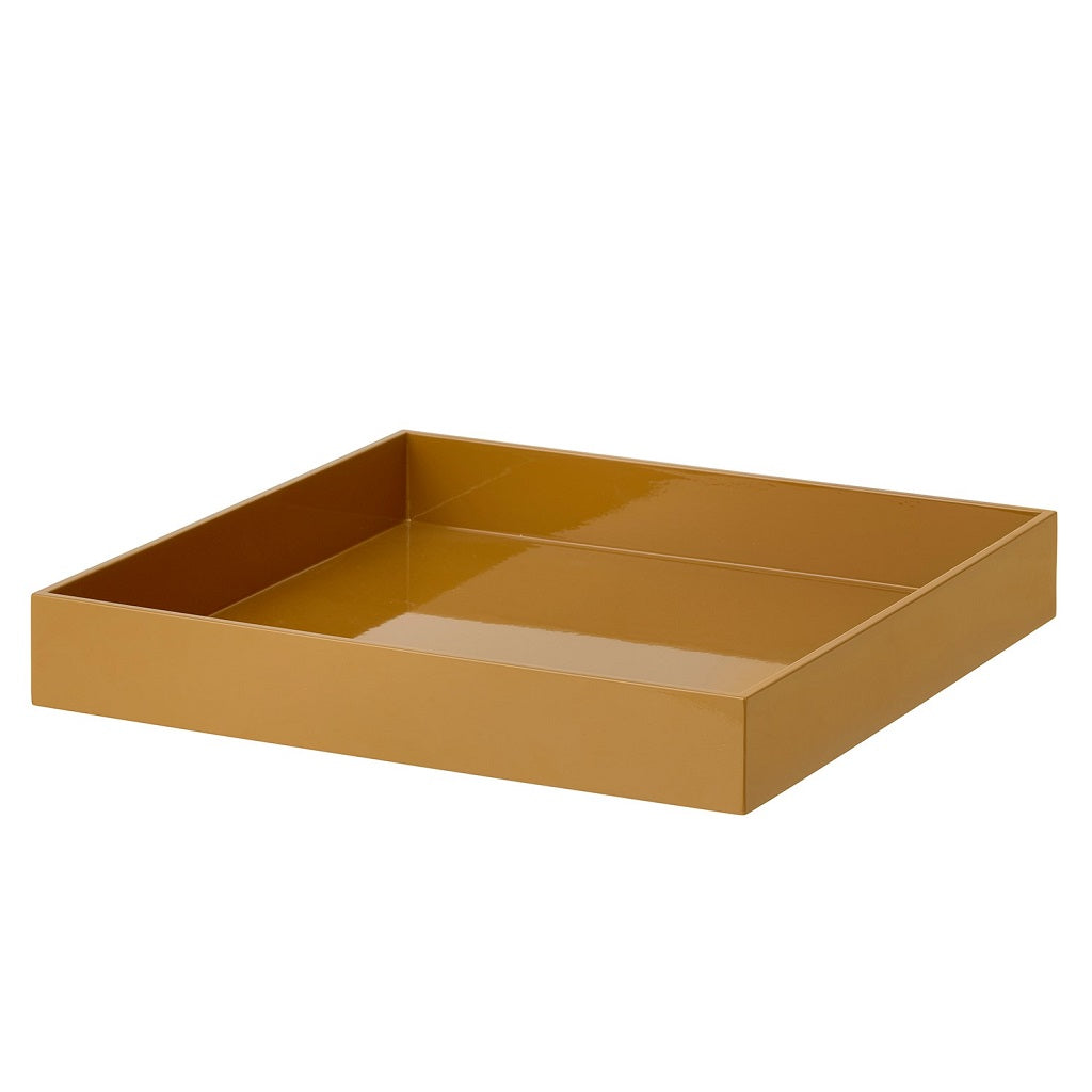 Bungalow, Lacquer Square Tray - Pecan