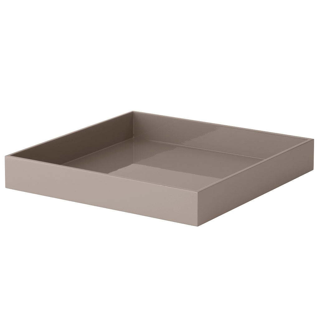 Bungalow, Lacquer Square Tray - Grey