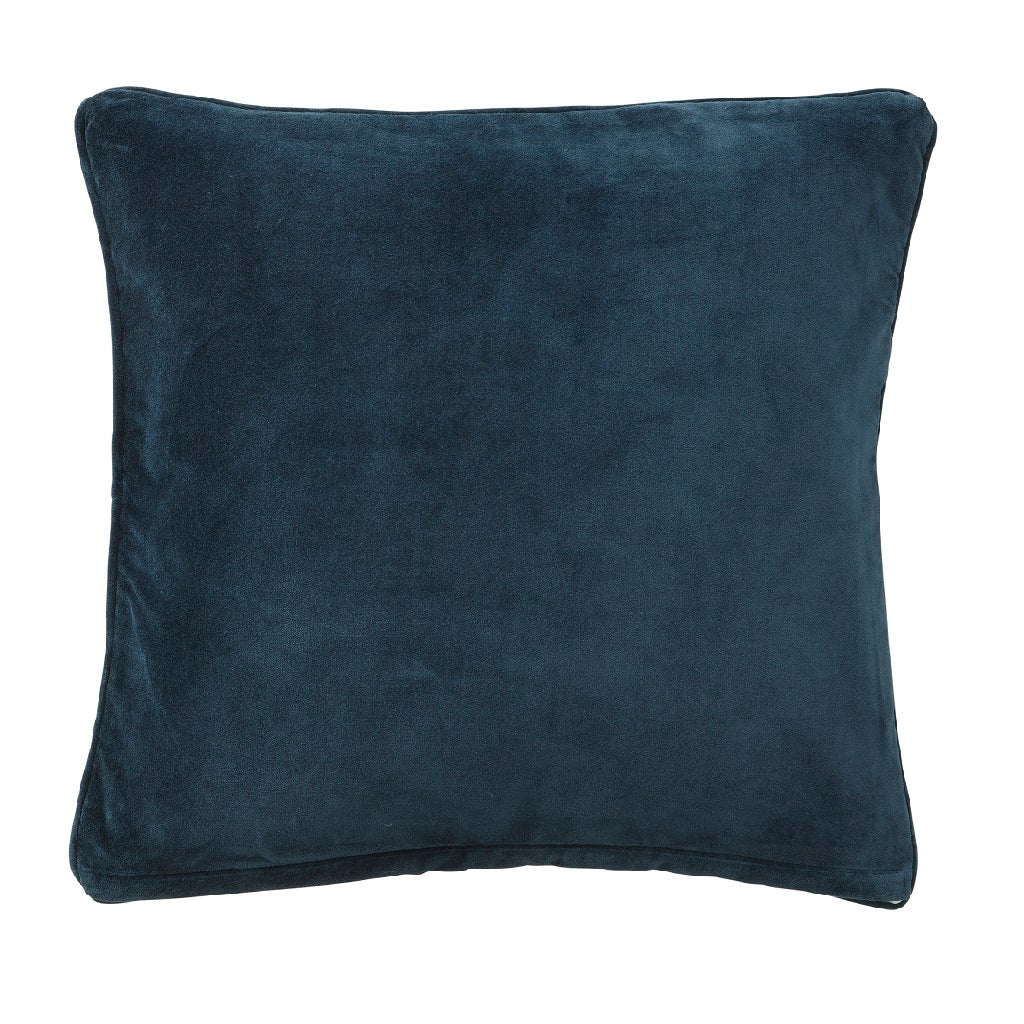 Bungalow Velour pude 50x50 fv. Navy