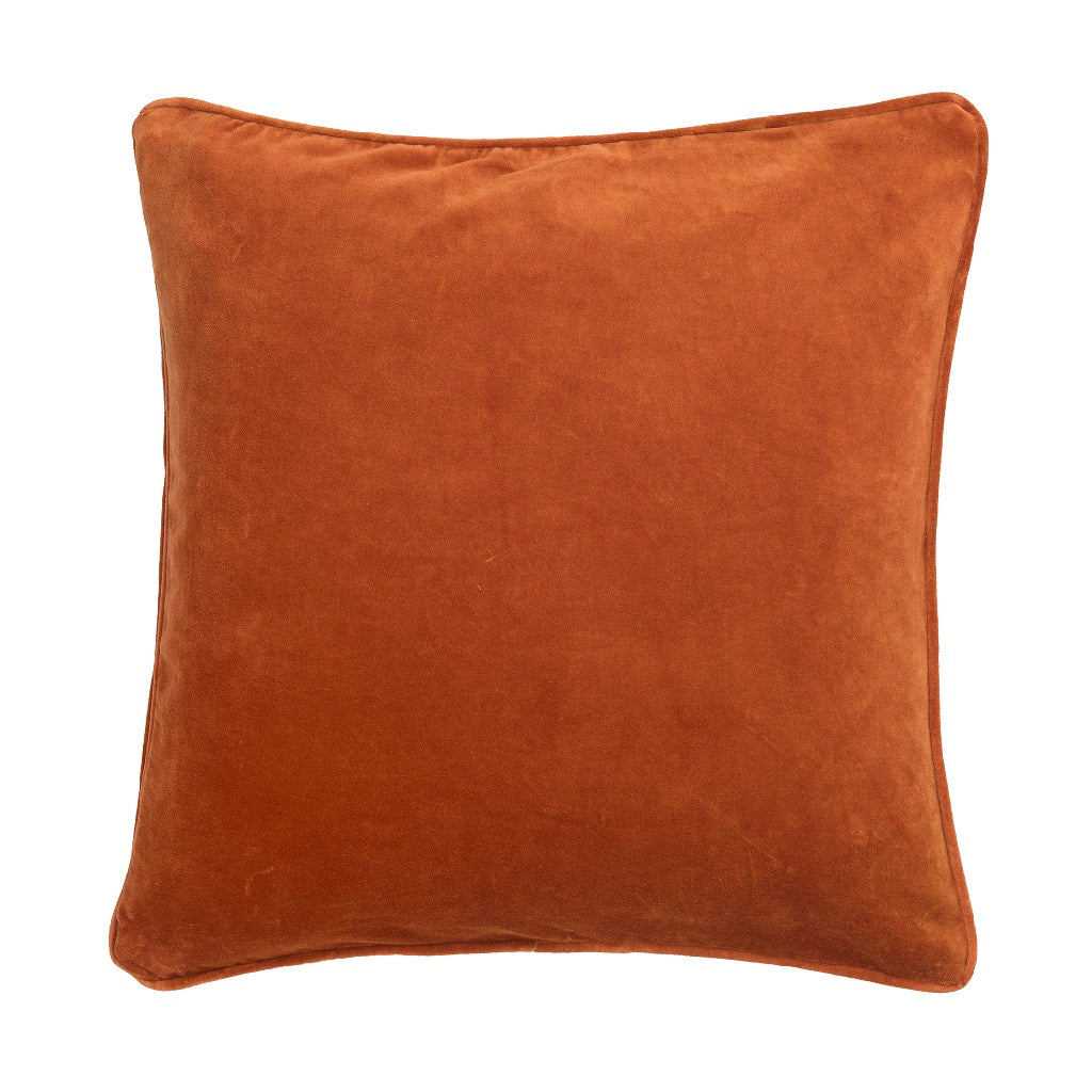 Bungalow Velour pude - Red Ochre