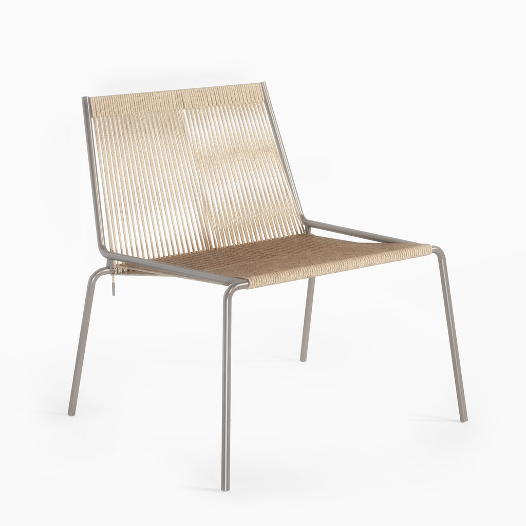 Studio Thorup Noel Lounge Chair - stål og natur flagline