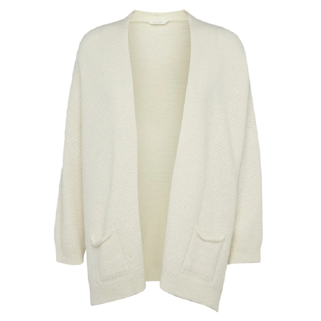 Gai + Lisva - Charlotte Strik cardigan, Off White/One Size