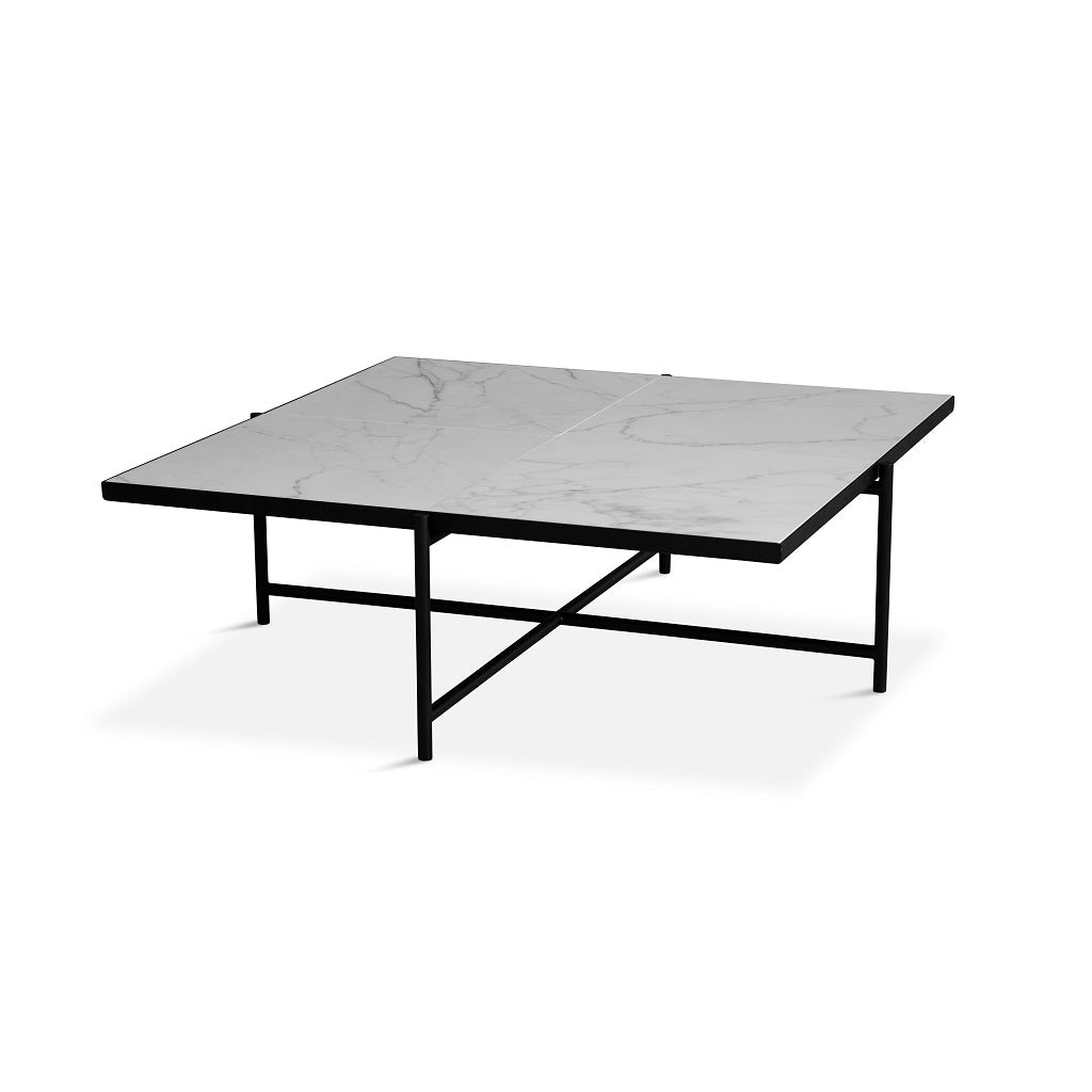 Handvärk Coffee Table Sofabord 90 - Sort/Hvid Marmor