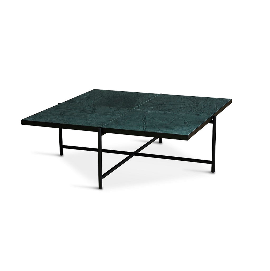 Handvärk Coffee Table Sofabord 90 - Sort/Grøn Marmor