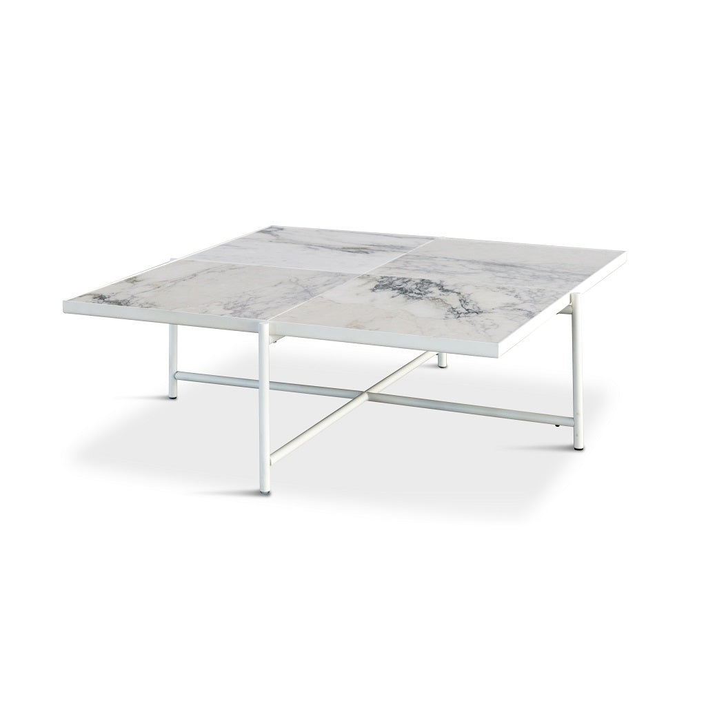 Handvärk Coffee Table Sofabord 90 - Hvid/Hvid Marmor