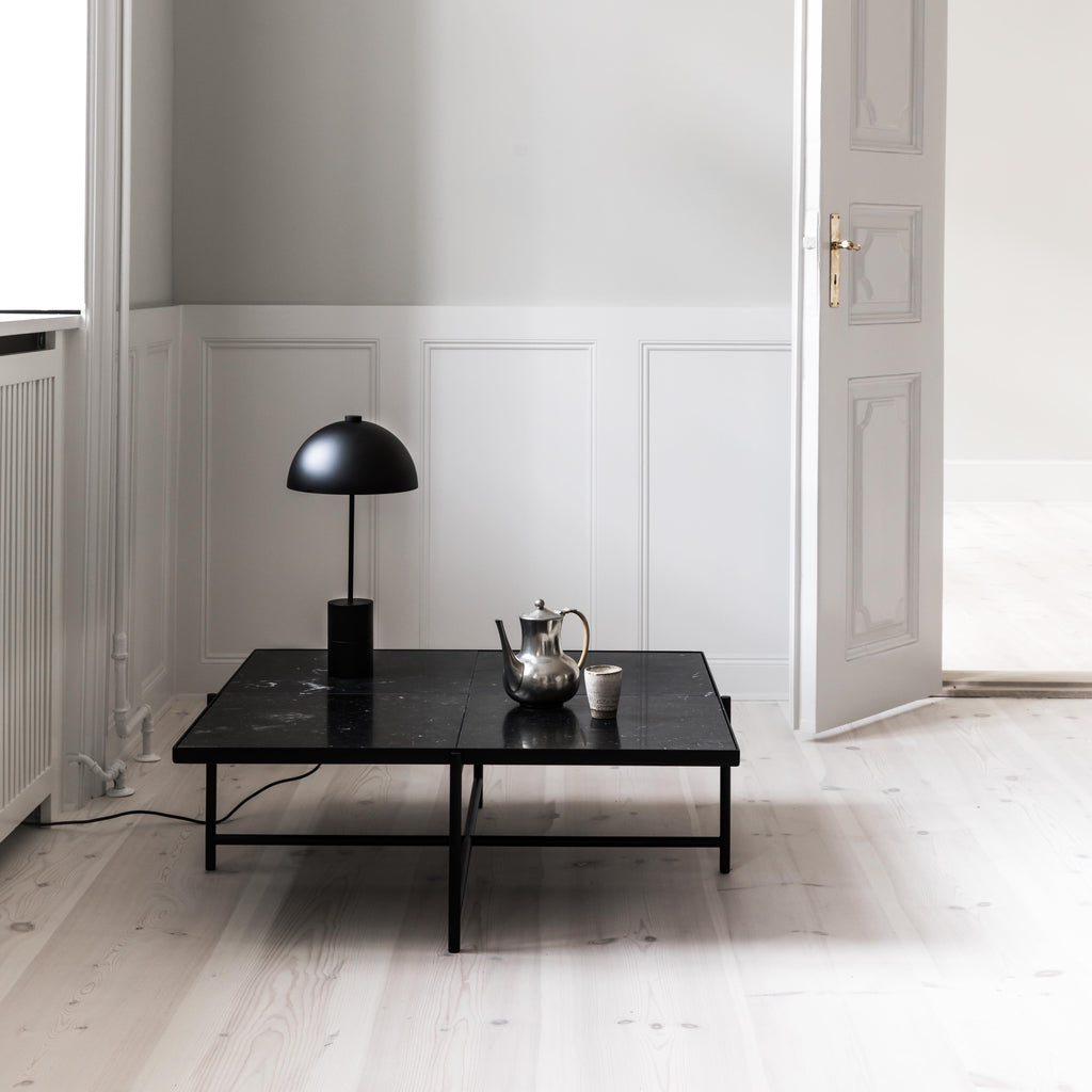 Handvärk Coffee Table Sofabord 90 - Sort/Sort Marmor