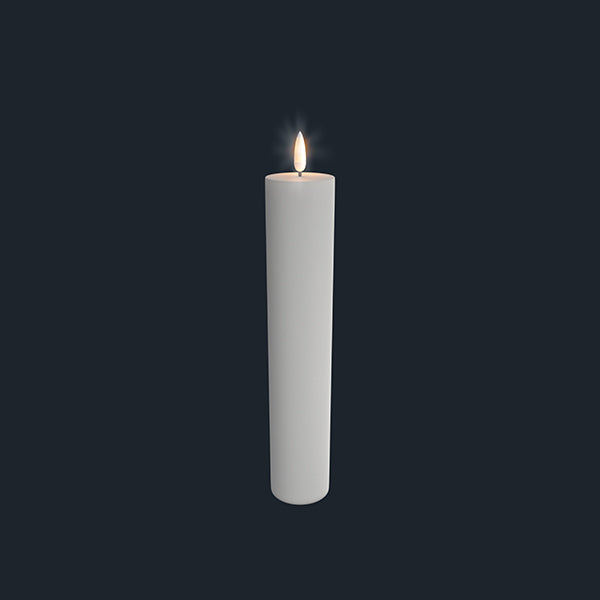 Uyuni Lightning Pillar Candle white 50 x 250 mm
