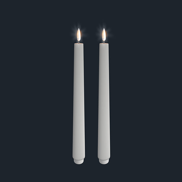 Uyuni Lightning Taper Candle white 25 x 280 mm, 2 stk.
