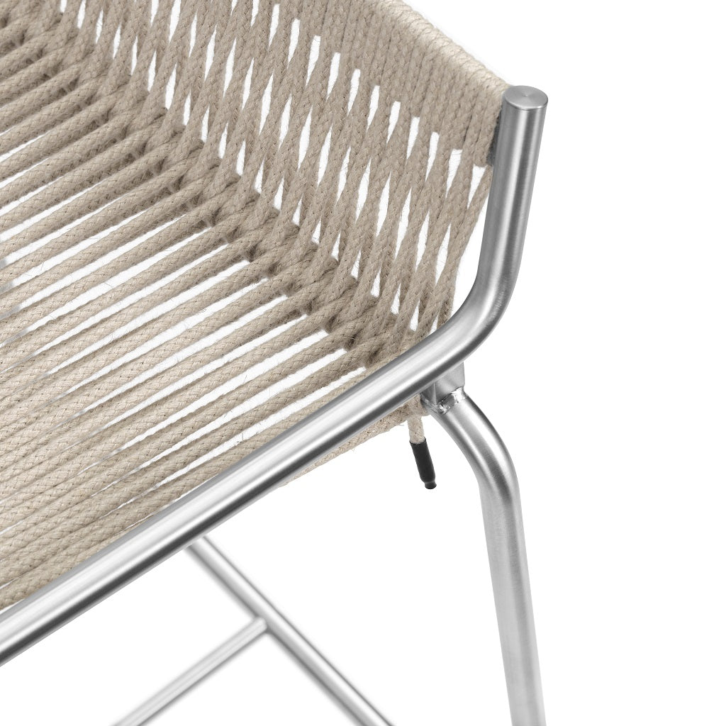 Studio Thorup Noel Bar Chair - Rustfrit stål/Flagline