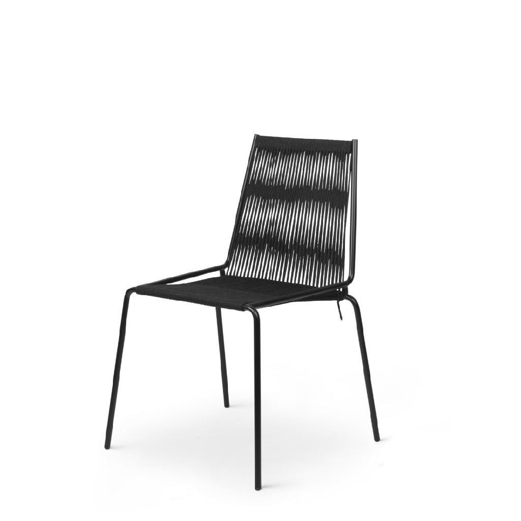 Studio Thorup Noel Chair - Sort stål stel/ Sort hør flagline
