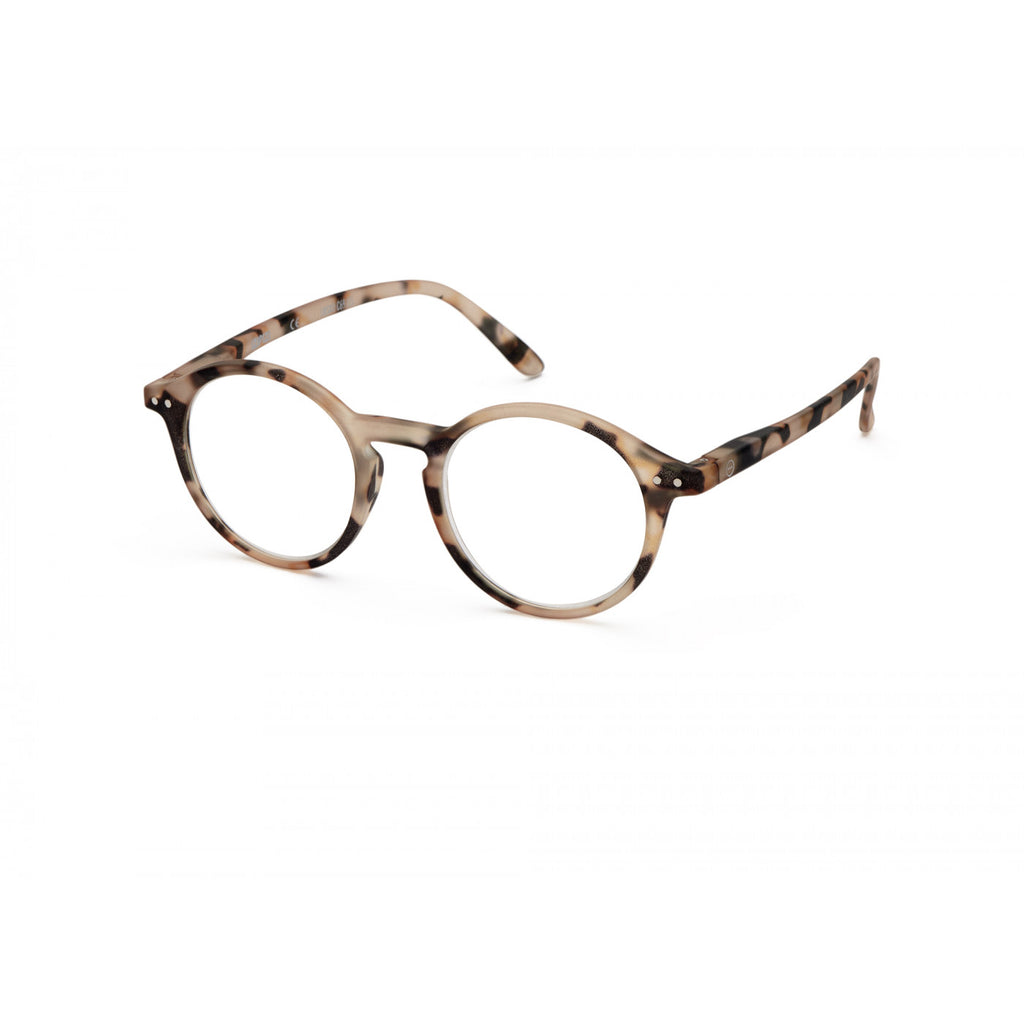 IZIPIZI læsebrille, Model D, Light Tortoise, siden