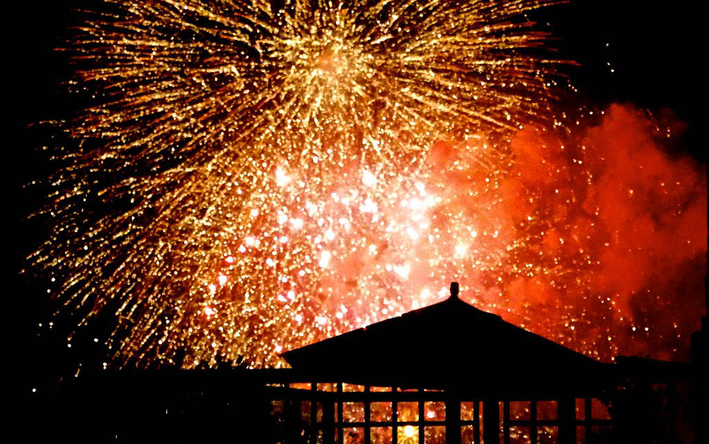 Can I Light Fireworks on my Artificial Lawn?
