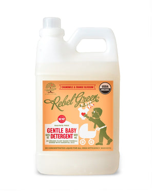 Mother Nature's Best Market Rebel Green Baby Detergent Cruelty-Free, Organic, Reusable/Recyclable, Vegan