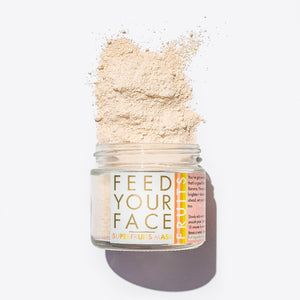 Mother Nature's Best Market LUA skincare FEED YOUR FACE SUPERFRUITS Powdered Face Mask All-Natural, Cruelty-Free, Gluten-Free, Reusable/Recyclable, Vegan