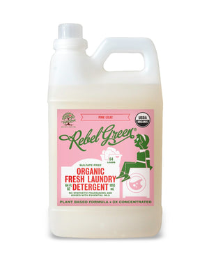 Mother Nature's Best Market Rebel Green Fresh Laundry Detergent: Pink Lilac Cruelty-Free, Organic, Reusable/Recyclable, Vegan